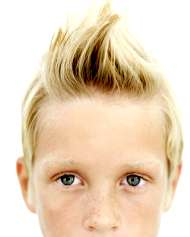 blonde boy hair do