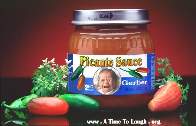 Funny Gerber Picante Sauce Baby Food picture